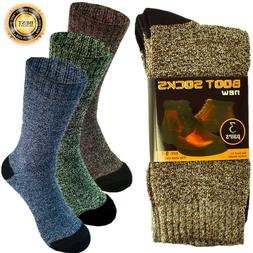 3-12 Pairs Mens Winter Thermal Cushioned Heavy Duty Cotton W