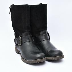 Clarks 66575 Majorca Isle Boot Belted Motorcycle Mid Calf Le