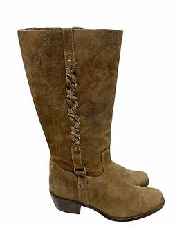 artisan mid calf boots in a speckled