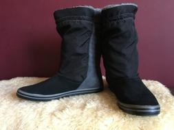NIKE Unisex Facile Gray Colorblock Mid-Calf Boots Shoes Size